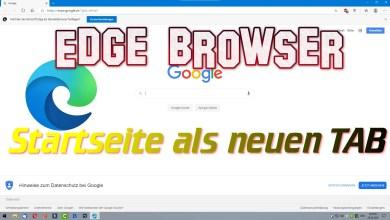 Photo of Microsoft Edge Browser – Startseite als neuen TAB