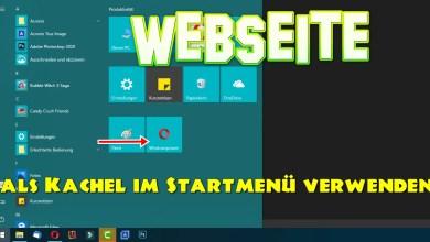 Photo of Webseite als Kachel im Startmenü anzeigen