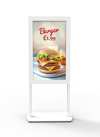 Freestanding Ultra High Brightness Digital Posters – White Background Image (1)