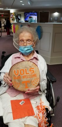 20210319 152452 scaled - Windsor Gardens Assisted Living residents supporting the VOLS in the NCAA Tournament