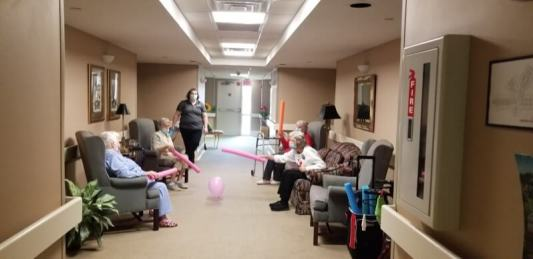 thumbnail 20210302 150459 1 - Residents having a great time exercising with noodles and balloons!!!