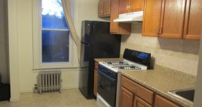 2 bedroom plus office space, living room, kitchen with oak cabinet, bathroom with skylight located in Windsor Terrace