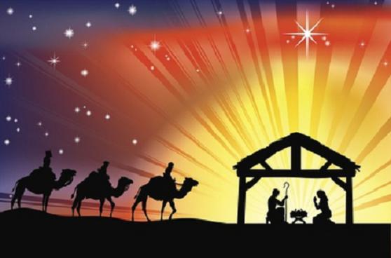 Christian Christmas Nativity Scene