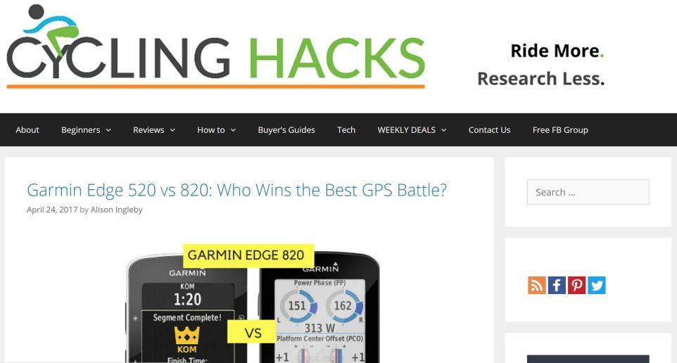 Cycling Hacks Bike Computer Comparison