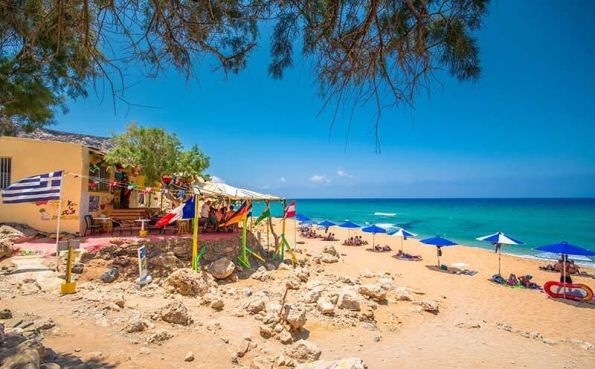 Red Beach - Crete, Greece nude beach