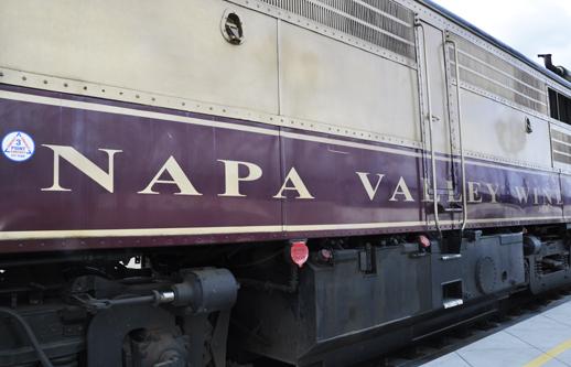 Napa Valley wine train for dinner tonight