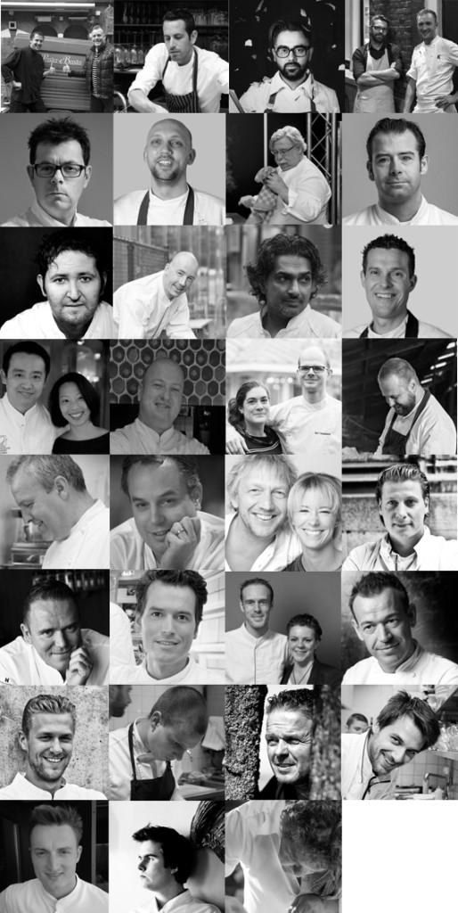 Chefs collage