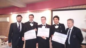 da destra Massimo Tortora, Nicola Bonera e Luca Dell'Innocenti