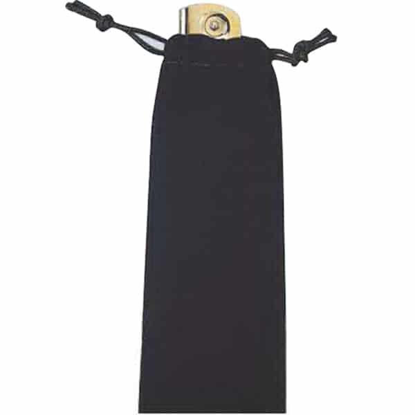 Black Velveteen Pull-String Sack