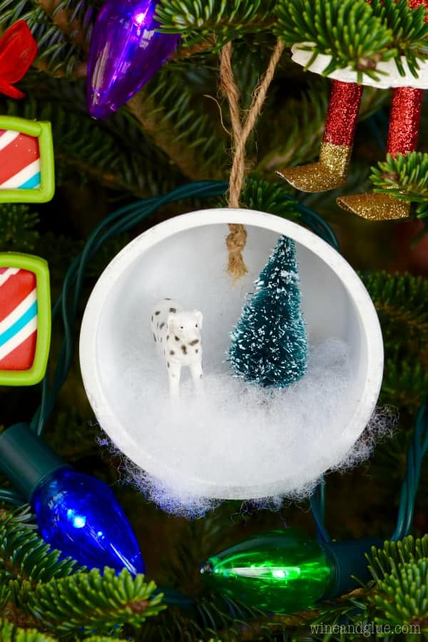 Winter Wonderland Shadow Box Ornaments Wine Amp Glue