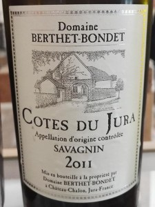 Domaine Berthet-Bondet. Côtes du Jura Savagnin 2011.