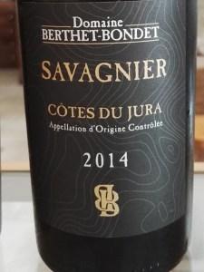 Domaine Berthet-Bondet. Côtes du Jura Savagnier 2014.