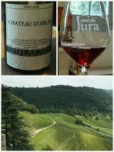 Rouge Pinot Noir 2008. Côtes du Jura. Chateau d'Arlay, Jura, France. July 2016.