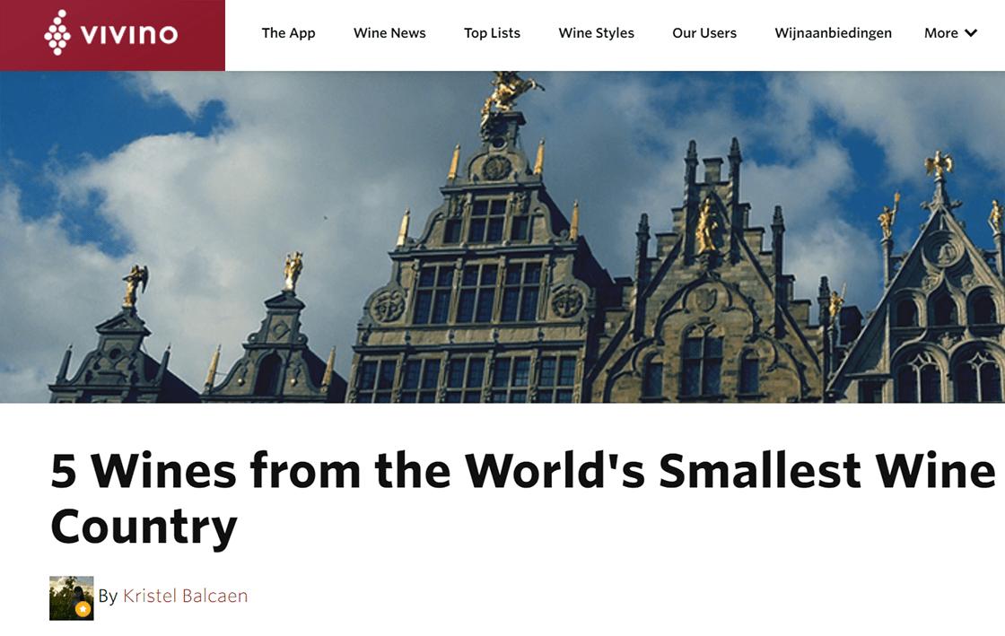 Vivino article - Belgian wines