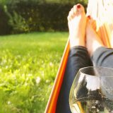Drinking champagne in the hammock. September 2017.