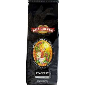 Peaberry Kona Coffee Whole Bean Medium Roast