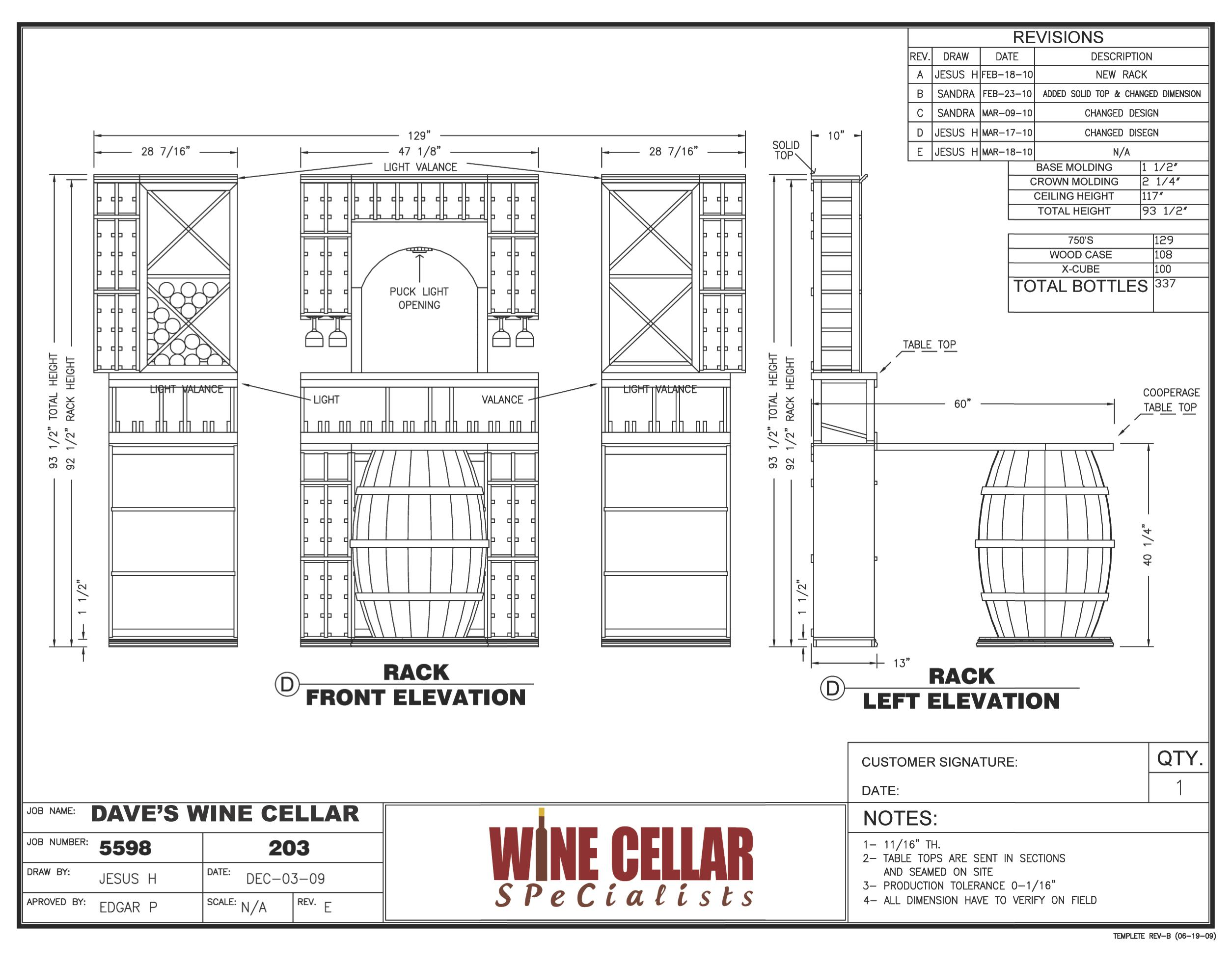 Diy Wine Cellar Rack Plans