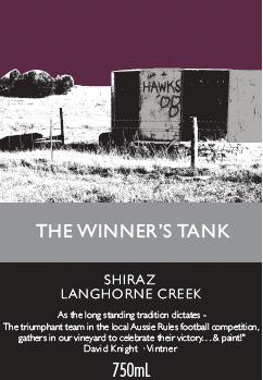 Winner's Tank Shiraz