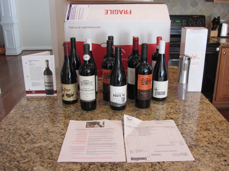 12 bottles of award winning red wine from Virgin Wines