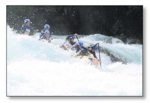 US Women's Whitewater team at International Championships on the Futalefu River in southern Chile. US Woman came in 2nd Place overall in the world.