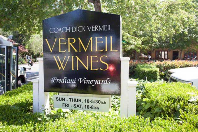 Vermeil Wines tasting room in Calistoga