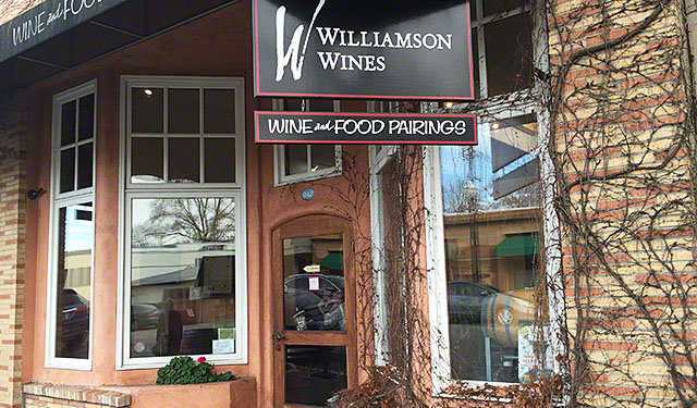 Williamson tasting room