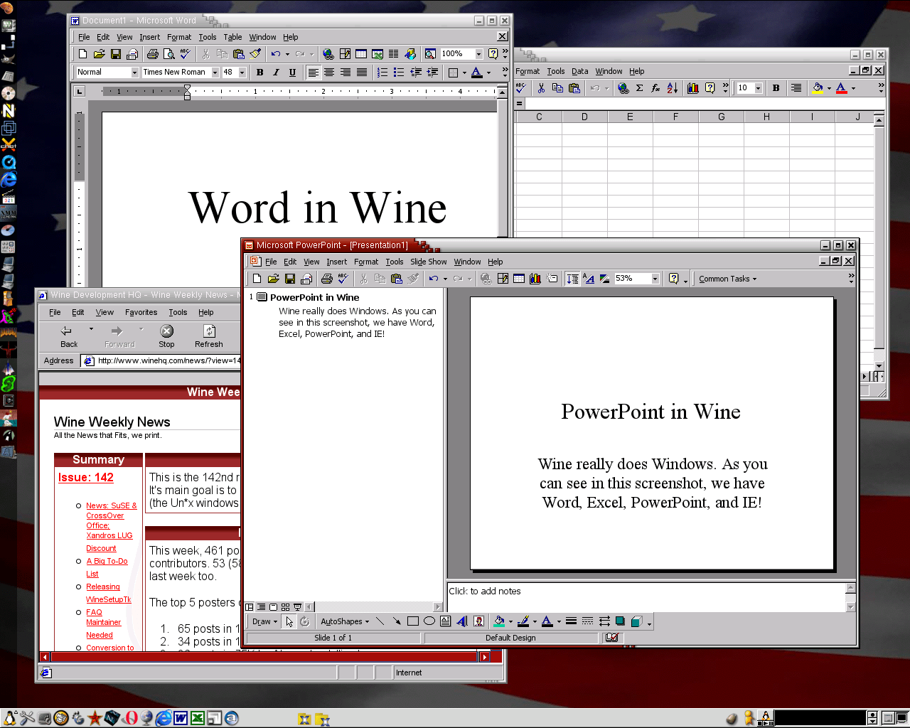 Wine's screenshot