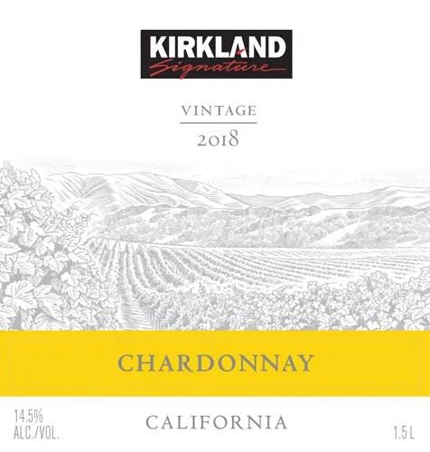 kirkland signature 2018 chardonnay