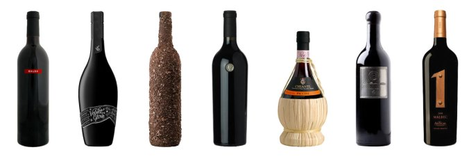 Wine Label Samples – Various Materials