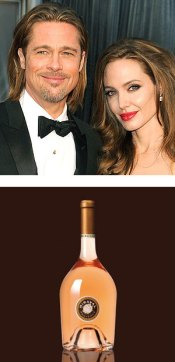 Celebrity Wine – Brad Pitt & Angelina Jolie With Wine Bottle