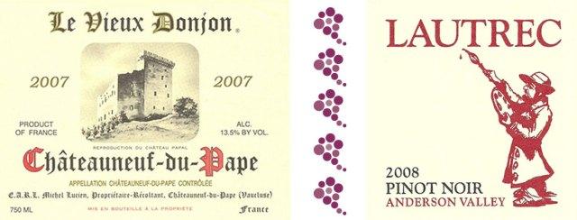 Châteauneuf-du-Pape vs. Lautrec Pinot Noir