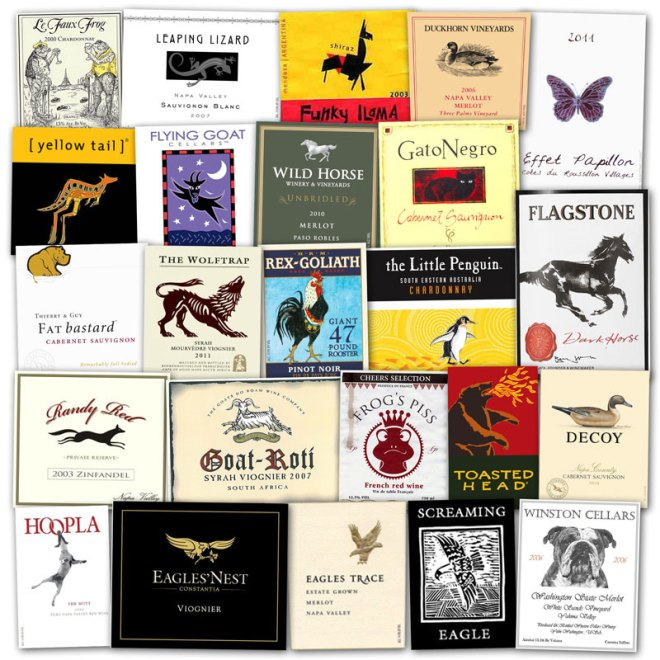Wine Label Clichés – Animals & Insects