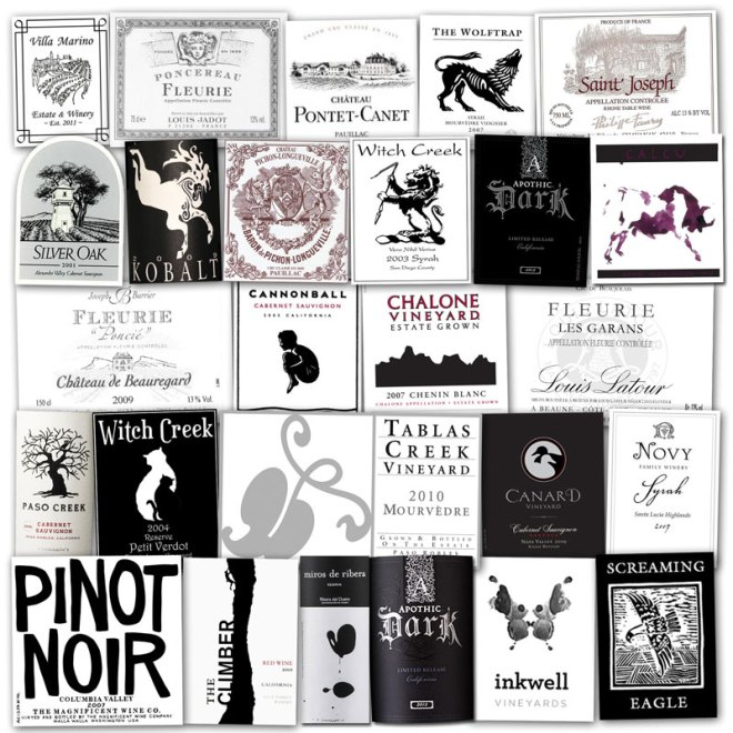Wine Label Clichés – Black & White