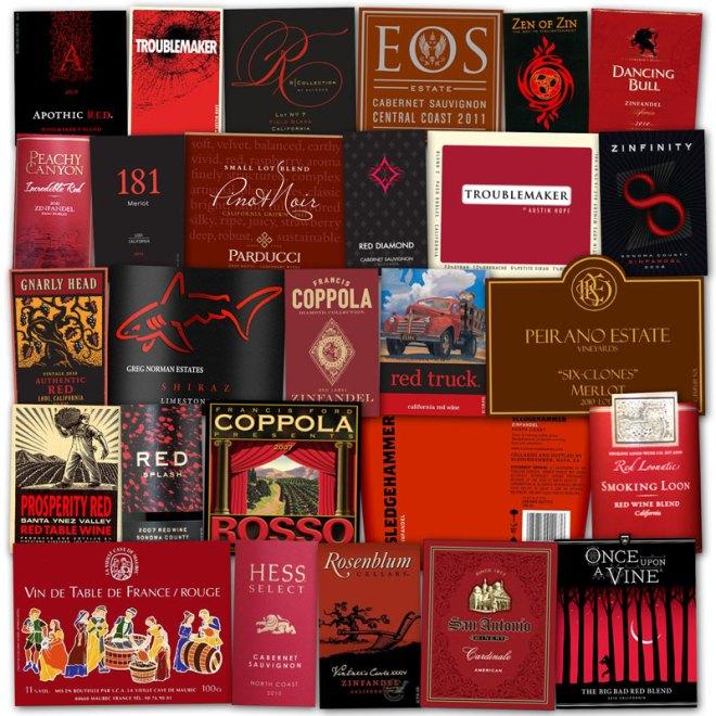 Wine Label Clichés – Red & Black