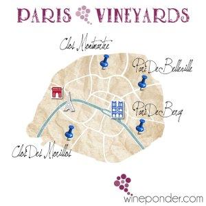 Paris Vineyards Map