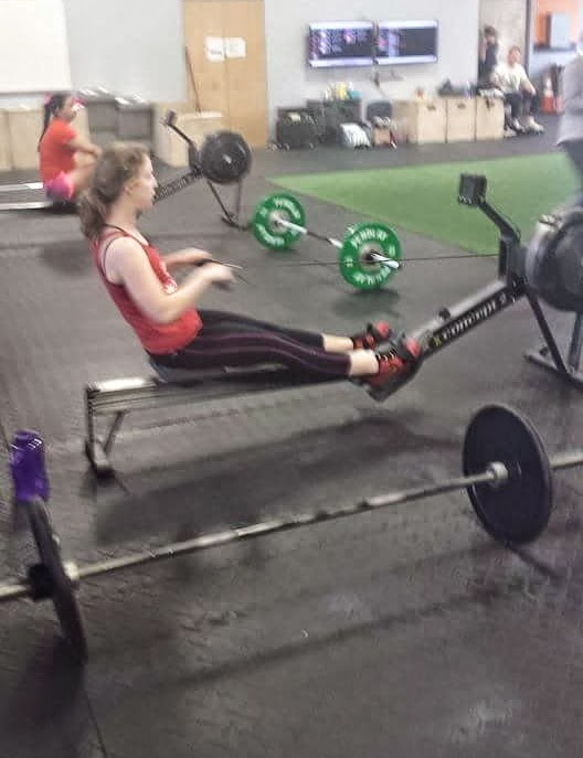 crossfit games open 15.5 rowing calories