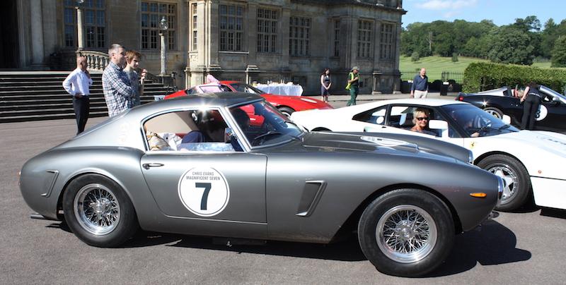 Ferraris in front of Longleat