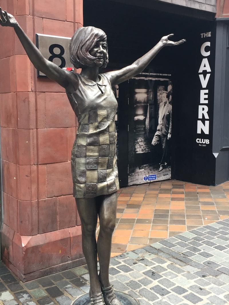 Cilla Black outside the Cavern Club