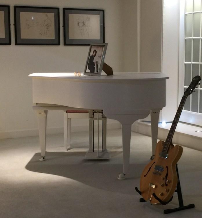 John Lennon White Piano