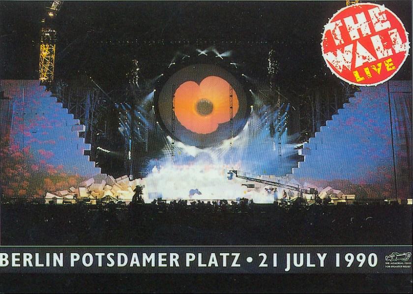Roger Waters Berlin Wall Posctard