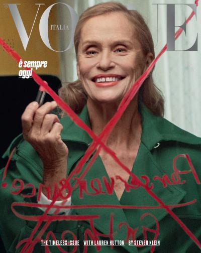 Lauren hutton Ageless Vogue Cover