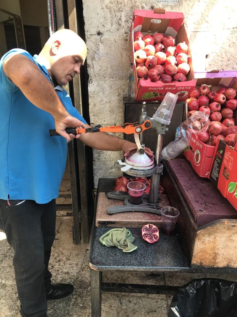 Mahane Yehuda Market Pomegranate Juice