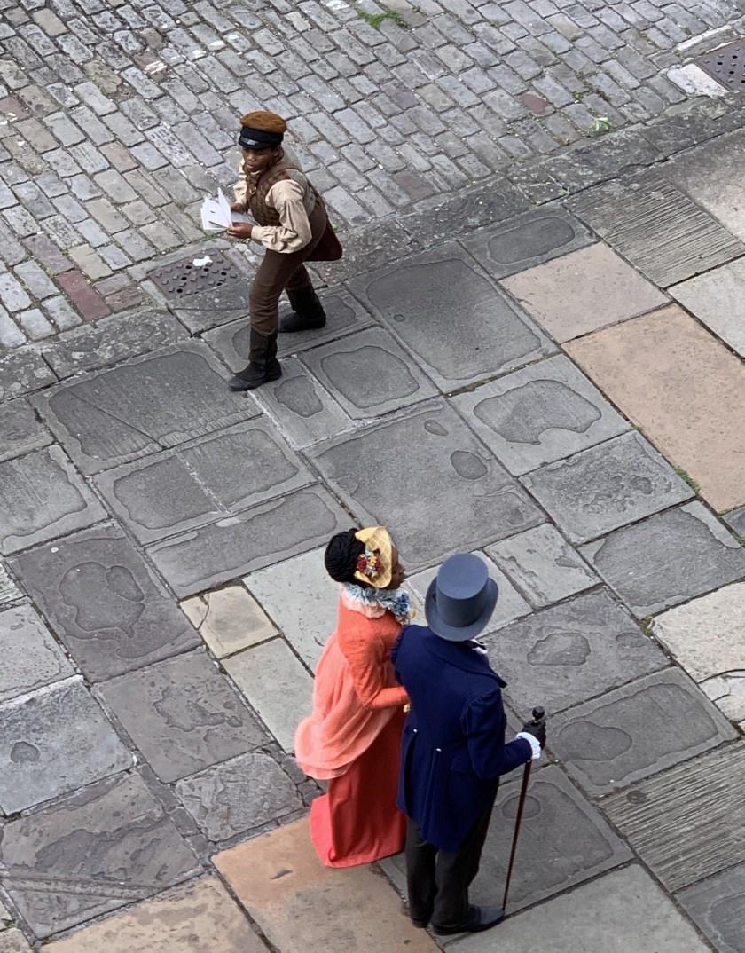 Bridgerton Cast filming in Bath