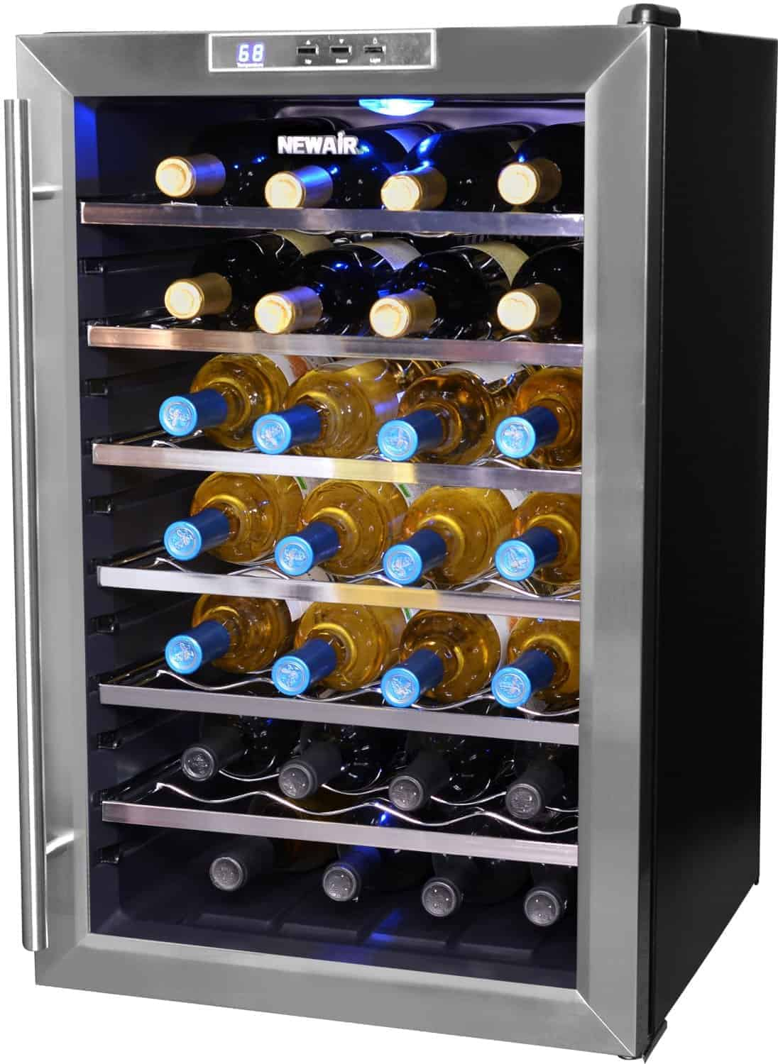 countertop refrigerator touchscreen wine bottle zoom asp cooler silent preparing enthusiast