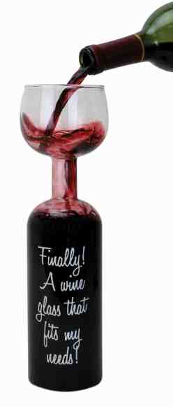 BigMouth Inc. Ultimate Wine Bottle Glass
