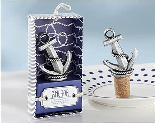 Nautical anchor wine stopper