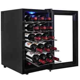 AKDY® 18 Bottle Single Zone Thermoelectric Freestanding Wine Cooler Cellar