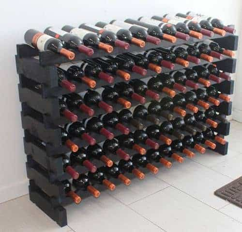 Stackable Modular Wine Rack Stackable Storage Stand Display Shelves
