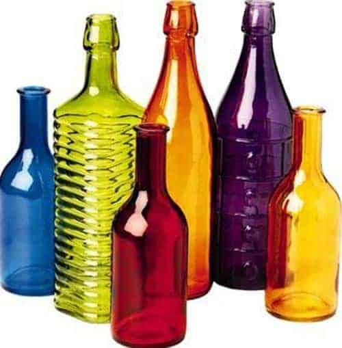 Colored Bottle Tree Bottles