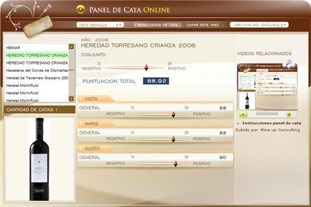 HEREDAD TORRESANO CRIANZA 2006, 88,92 PUNTOS EN WWW.ECATAS.COM POR JOAQUIN PARRA WINE UP